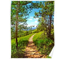"""Hiking Ridge Route Trail"" Vail, Colorado Poster"