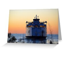 Cross Sound Ferry | Orient Point, New York  Greeting Card
