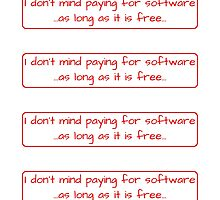 I don't mind paying for free software by iensenfirippu