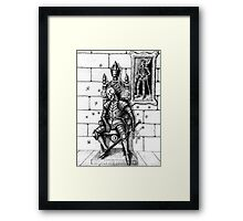 End of the King surreal black and white pen ink drawing Framed Print