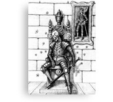 End of the King surreal black and white pen ink drawing Canvas Print