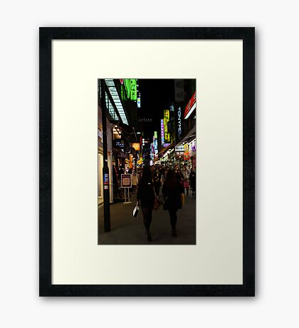 Korean Nights Framed Print