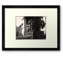 The italian man Framed Print