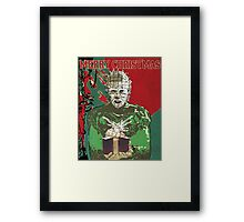 Merry Christmas Pinhead Framed Print