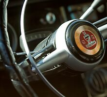 Checker Taxi Cab Steering Wheel by Jill Reger