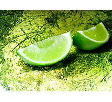 Lime on green Photographic Print