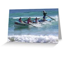 blue water action .. Greeting Card