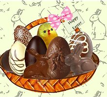 Chocolate Easter egg Card ( 1498 Views) by aldona