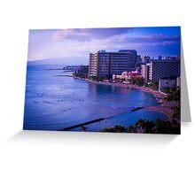 Waikiki Beach | Honolulu HI (2012) Greeting Card