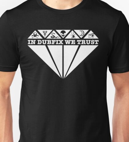 Dubfixx Diamond White Unisex T-Shirt