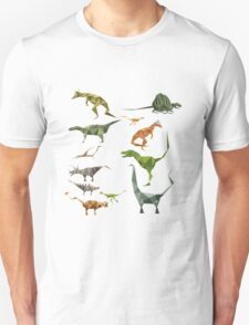 Colored Dinosaurs chart T-Shirt