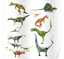 Colored Dinosaurs chart Poster