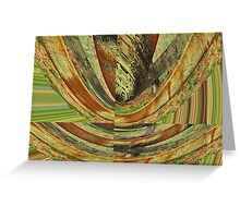 Green Brown Fence Greeting Card
