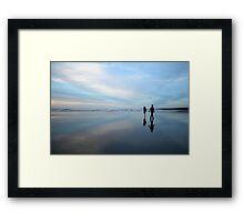 hunts beach reflection Framed Print