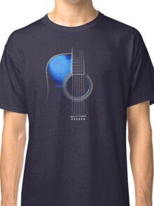 Blue Acoustic Guitar Hi-Lite Classic T-Shirt
