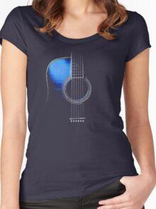 Blue Acoustic Guitar Hi-Lite Women's Fitted Scoop T-Shirt