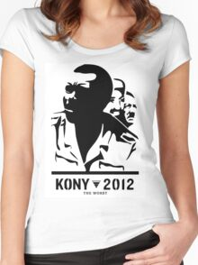 Kony 2012 (black & white) Women's Fitted Scoop T-Shirt