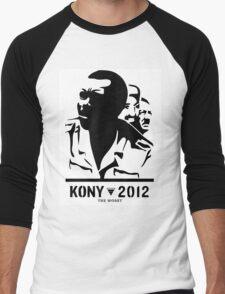 Kony 2012 (black & white) Men's Baseball ¾ T-Shirt