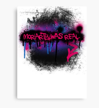 Moriarty was real (berry) Canvas Print