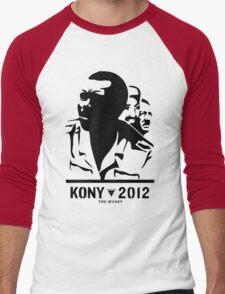 Kony 2012 (transparent) Men's Baseball ¾ T-Shirt