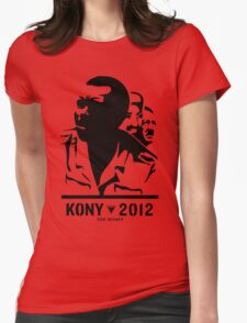 Kony 2012 (transparent) Womens Fitted T-Shirt