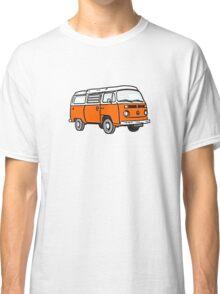 Bay Window Campervan Orange Classic T-Shirt