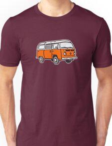 Bay Window Campervan Orange Unisex T-Shirt