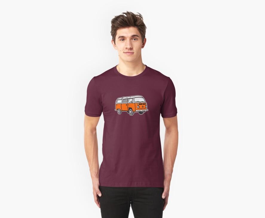 Bay Window Campervan Orange by Ra12