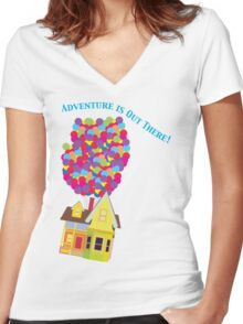 Balloon House Tee Women's Fitted V-Neck T-Shirt