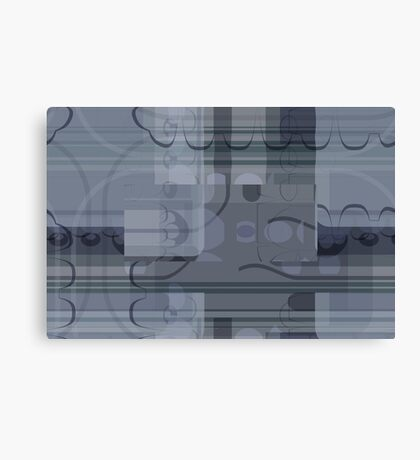 Gray Abstract Flowers Canvas Print