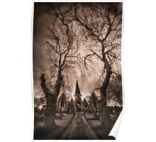 Chapel at Pontefract Cemetery Poster