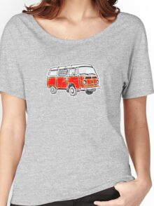 Bay Window Campervan Orange Worn Well Women's Relaxed Fit T-Shirt