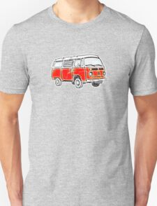 Bay Window Campervan Orange Worn Well Unisex T-Shirt