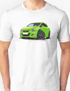 Vauxhall Corsa VXR Nurburgring Lime Green Unisex T-Shirt