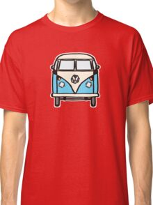 Blue White Campervan (slightly cubist) Classic T-Shirt