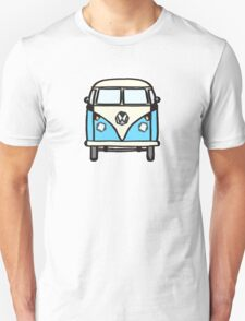 Blue White Campervan (slightly cubist) Unisex T-Shirt