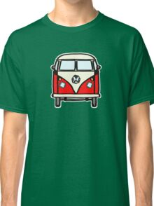 Red White Campervan (slightly cubist) Classic T-Shirt
