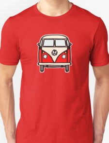 Red White Campervan (slightly cubist) Unisex T-Shirt