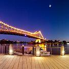 Brisbane Panorama at Dusk by Garry Schlatter