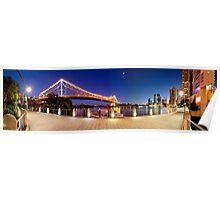 Brisbane Panorama at Dusk Poster