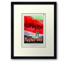 Colorful Vintage Astronauts on Exoplanet Framed Print