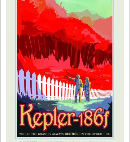 Colorful Vintage Astronauts on Exoplanet Sticker