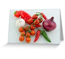 Salsa Mix Greeting Card