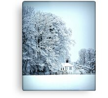 llynon house in snow Metal Print