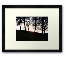 sunsets over walls Framed Print