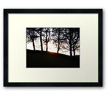 sunsets over walls Framed Print