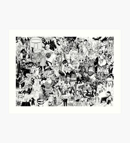 Manga collage Art Print