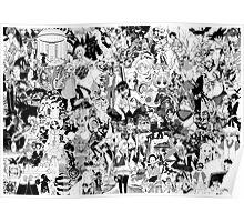 Manga collage Poster
