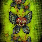 Butterfly iPhone case by beanarts