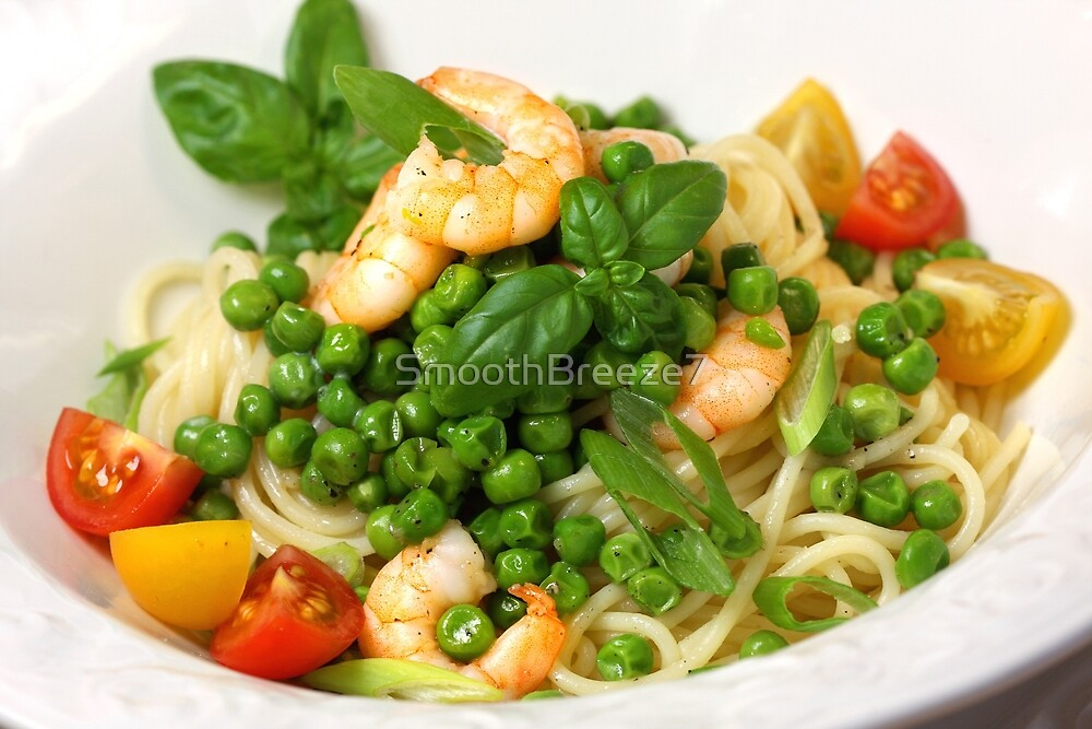 Spaghetti, Peas and Frutti di Mare by SmoothBreeze7